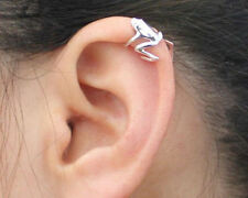 Silver Frog Animal Figure Cartilage Ear Cuff Wrap Clip Earring NEW
