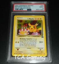 PSA 9 MINT Birthday Pikachu # 24 WOTC Black Star Promo HOLO RARE Pokemon Card
