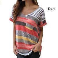 Plus Size Women Summer Short Sleeve Casual T-shirt Sports Loose Blouse Tops