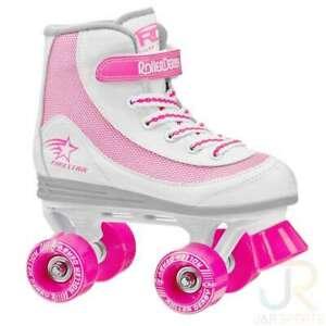 RD Firestar Adult/Childrens White Pink V2 Quad Roller Skates