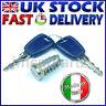 FIAT 500 PANDA 2 PUNTO 2 Door Lock Barrel & Keys Lock Set MADE IN ITALY OE QAL