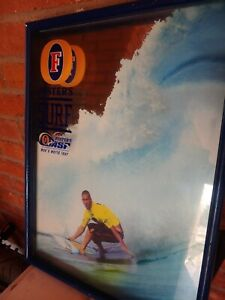 Vintage 1998 Foster's Beer ASP Surfing 3-D Shadowbox Mirror Kelly Slater MANCAVE
