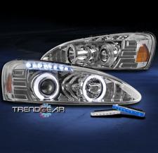 2004-2008 PONTIAC GRAND PRIX HALO LED PROJECTOR HEADLIGHT LAMP CHROME W/BLUE DRL
