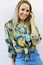 Maglie e camicie vintage da donna gialli taglia L