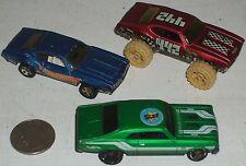 """Car 3pc Group #11-Chevy Nova & 2 Olds 442 Custom Race Cars 3"""" USED"""