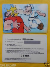 telefonkarte phone cards 10 units popeye and brutus braccio di ferro e bruto gq