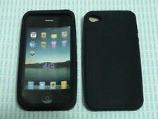Cover custodia gomma silicone Iphone 4 4g nero nera new