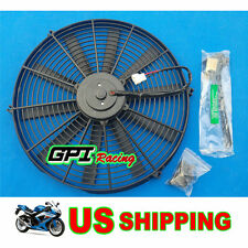 """16"""" 12V Slim Radiator Cooling Thermo Fan&Mounting ,universal electric fan,NEW"""