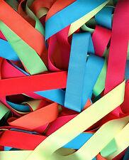 Neon Grosgrain Ribbon - 2 yards each 6 colors 4 sizes 1-1/2,7/8,5/8, 3/8 48 YARD