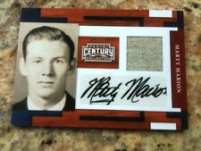 Panini Century Collection MARTY MARION AUTO MATERIALS JERSEY SWATCH CARD #1/25!