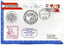 1992 Luftschiffpost n. 2 Pro Juventute Dirigibile HB-BWA Pestalozzi Nikolaus ONU