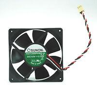 10pc SUNON DC Fan KD1208PHB2-A H.F DC12V 2W 8x8x2cm 3-wires UL TUV CE Taiwan