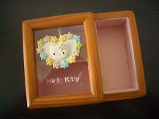 Vintage 1997 Sanrio Hello Kitty Woody Jewelry Trinkets Box Case