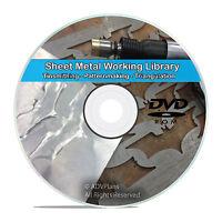 Sheet Metal Cutting Tinsmithing Pattern Drafting Work Shop Books CD DVD V72
