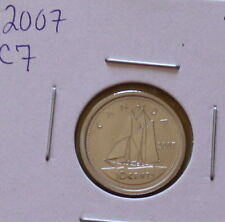 2007 (CURVED 7) CANADIAN TEN CENTS (MS-65 NC FINISH :)