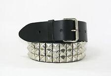 "Pyramid Studded Genuine Leather Belt (PB3) 2""/50mm *2 COLOURS* (S,M,L,XL)"