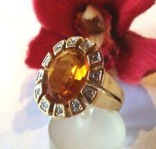 Hinreißender Pierre Lang Ring mit Stein vergoldet Fingerring / bs 856