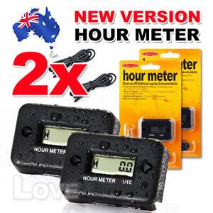 2X Inductive Waterproof Hour Meter for Marine ATV Motorcycle Dirt Ski Gas Engine