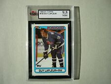 1990/91 TOPPS NHL HOCKEY CARD #142 GUY LAFLEUR KSA 9.5 NEAR GEM MINT SHARP!!