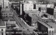 Cedar Rapids IA Furniture Store, Drugstore & Hardware~Birdseye 2nd Ave~1940s B&W