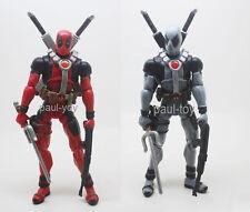 2pcs Marvel Universe 3.75inch Red & Gray Deadpool loose figure X-Men