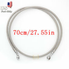 70cm Silver Brake Oil Hose Line Banjo Fitting Stainless Steel Braided Motorcycle