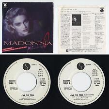 "Madonna - Live To Tell / Instrumental 7"" JAPAN WHITE LABEL PROMO 45 Black Vinyl"