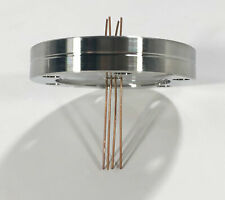 Mdc Lesker 4 Pin Electrical Vacuum Feedthrough 275 Cf Conflat Flange Unused