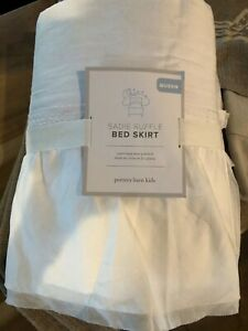 Pottery Barn Kids Sadie Organic Ruffle Bedskirt QUEEN Size