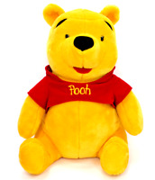 "Disney Mattel Winnie the Pooh Plush 18"" Red Shirt Stuffed Animal Toy"