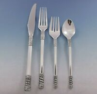Aegean Weave Plain by Wallace Sterling Silver Flatware Set for 8 Service 38 pcs