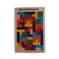 En bois Tetris puzzle jeu puzzle Tangram Building bloc enfants éducatifs jouet B