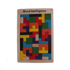 En bois Tetris puzzle jeu puzzle Tangram Building bloc enfants éducatifs  jou
