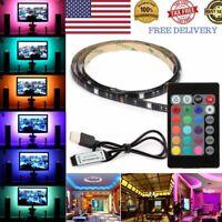 2M/6FT USB Powered RGB 5050 LED Strip Lighting for TV Computer Background Light