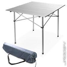 Aluminium Roll Top Table Garden Picnic Rollup Fold Camping Fishing Outdoor Bag