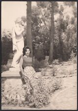 YZ1002 Ravello - In posa a Villa Cimbrone - Foto d'epoca - 1962 vintage photo