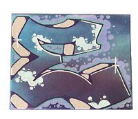 "Graffiti ""E"" 8 x 10 spray paint and marker Art on Canvas signed original"