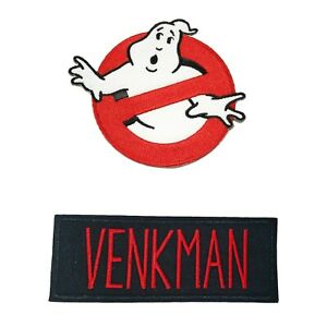 """ADULTS Iron-on Custom Ghostbusters Name Tag 4"""" Patch - """"VENKMAN"""""""