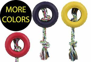 Rubberized Pet Chew Rope And Tire Dog Toy