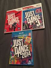 JUST DANCE 1, 3 & 2014, NINTENDO WII/WII U, ALL 3 GAMES-NEW