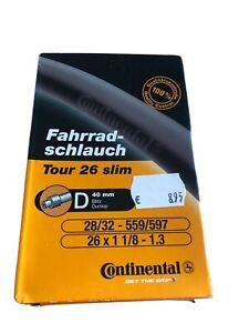 """Continental Fahrrad Schlauch 26"""" Tour Trekking slim 26x1 1/8 - 1,3 28/32-559/597"""