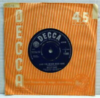 Billy Fury - Like i've never been gone - 1963 vinyl 45 RPM single Decca F 11582