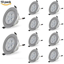 10Pcsx 5W LED Recessed Ceiling Down Light Fixture Cabinet Spot Lamp Bulb Round