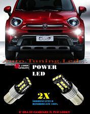 FIAT 500X COPPIA LAMPADE LUCI DIURNE A LED 6000K P21W BA15 NO ERROR CAMBUS