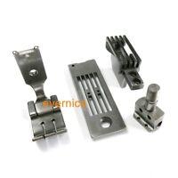 1/4 Gauge Set Foot Feeder Needle Plate Needle Clamp For Singer 112W145 2-Needle