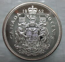 1962 CANADA 50 CENTS PROOF-LIKE SILVER HALF DOLLAR COIN