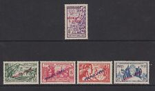 French Indian Settlements - SG 154, 157/60 - l/m - 1941 - 8ca - 2fa 12