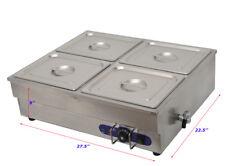 4-Pan Counter Top Warmer Bain-Marie Buffet STEAM TABLE FOOD WARMER 110V