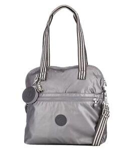 Kipling Adila Premium Large Triple Compartment Multiway Bag - Carbon Metallic