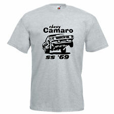 Camaro chevy chevrolet american car muscle drag race T Shirt tee classic cool